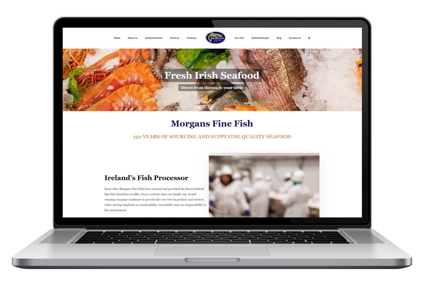 Morgans Fine Fish Website