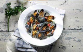 Cider Braised Mussels